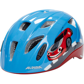 Alpina Ximo Flash Casco Bambino, red car